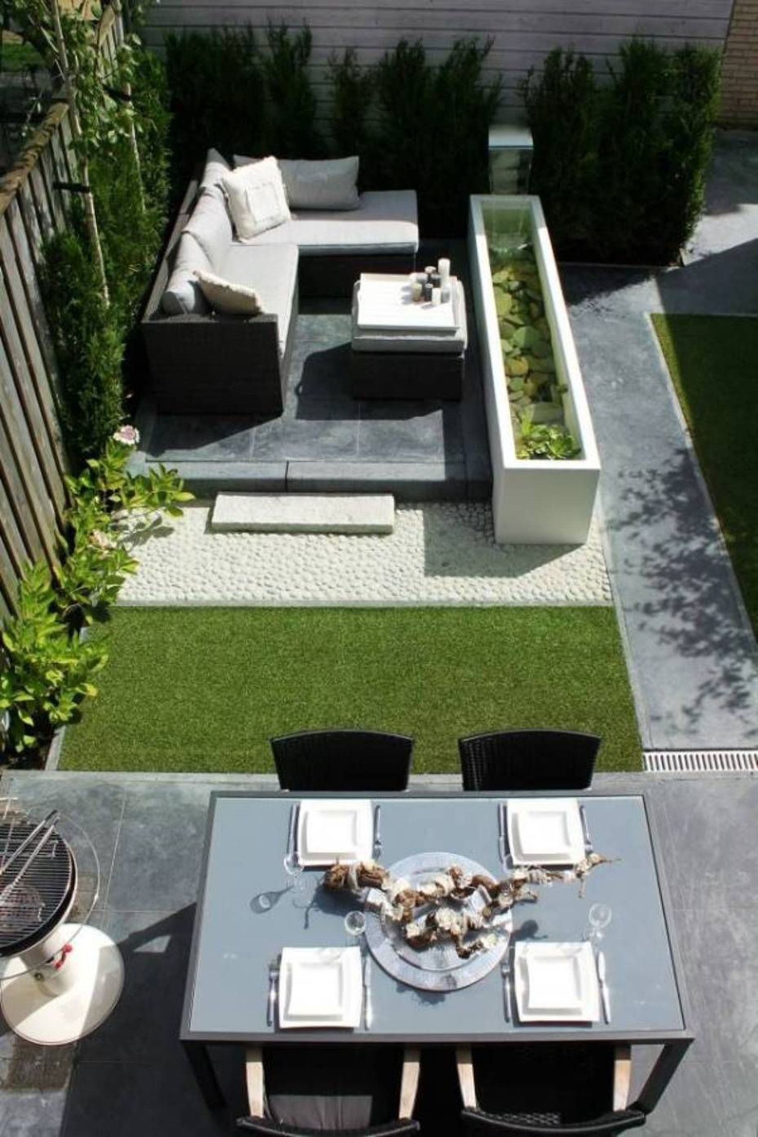 Petit Jardin : 8 Aménagements Repérés Sur Pinterest | Para ... concernant Salon De Jardin Casa