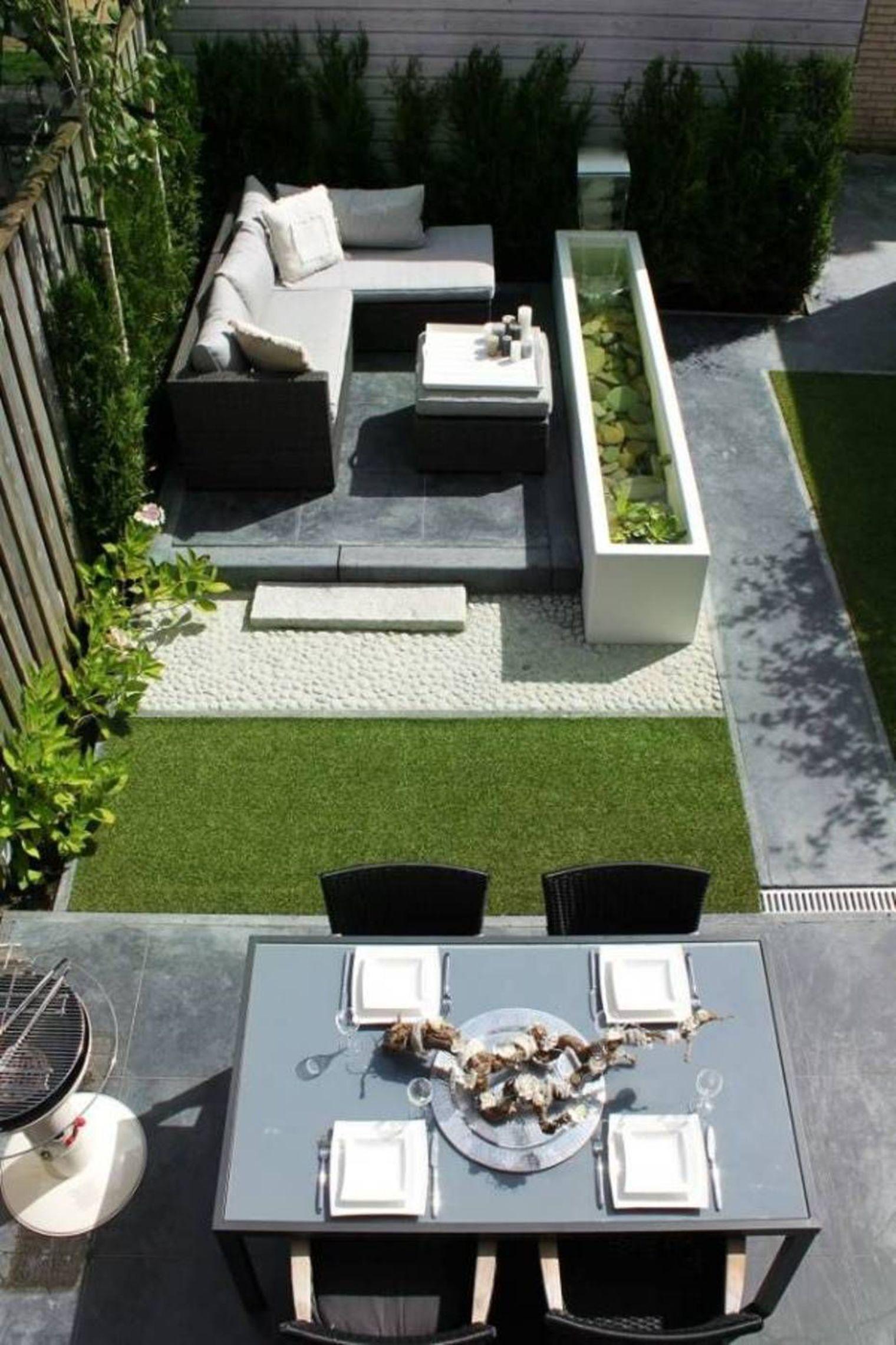 Petit Jardin : 8 Aménagements Repérés Sur Pinterest | Para ... tout Casa Salon De Jardin
