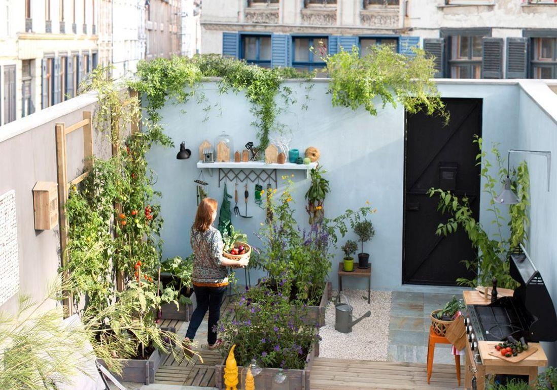 Petit Jardin : Nos Astuces Et Conseils Pour Un Petit Jardin ... pour Decoration Pour Mur Exterieur De Jardin