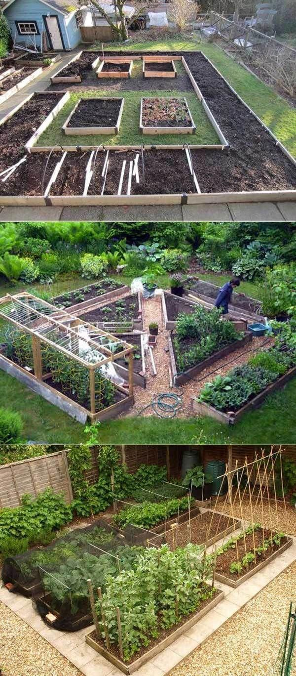Petit Lit Surélevé De Légumes | Comment Construire Un ... encequiconcerne Construire Jardin Surélevé