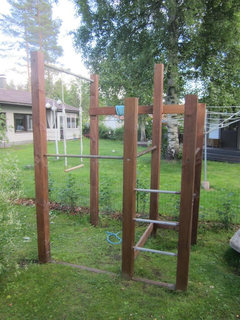 Petit Projet D'été, Une Structure D'entrainement Par ... intérieur Barre De Traction Jardin