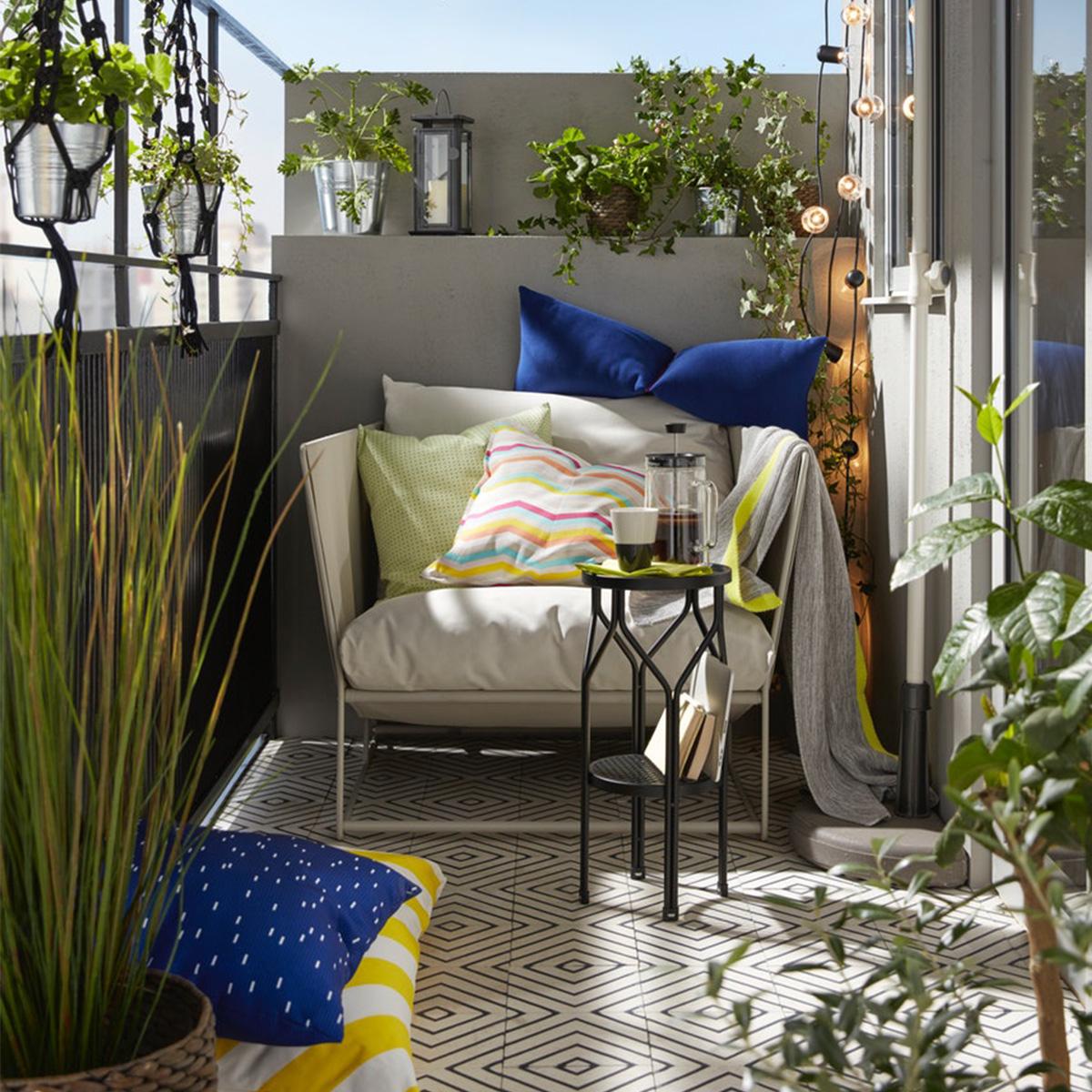 Petit Salon De Jardin Pour Balcon Luxe Idées Pour L ... intérieur Meuble De Jardin Ikea
