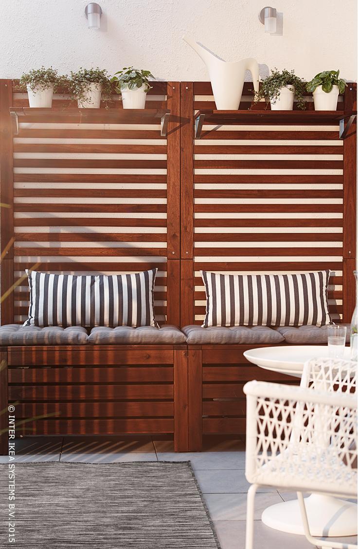 Petit Salon D'été. Série Äpplarö #ikea #terrasse #jardin ... intérieur Salons De Jardin Ikea
