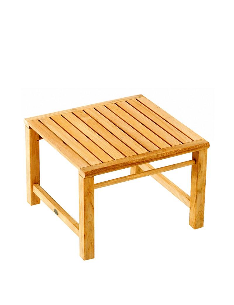 Petite Table Basse D'extérieur En Teck 60*60 - Vente Privée ... serapportantà Vente Privée Jardin