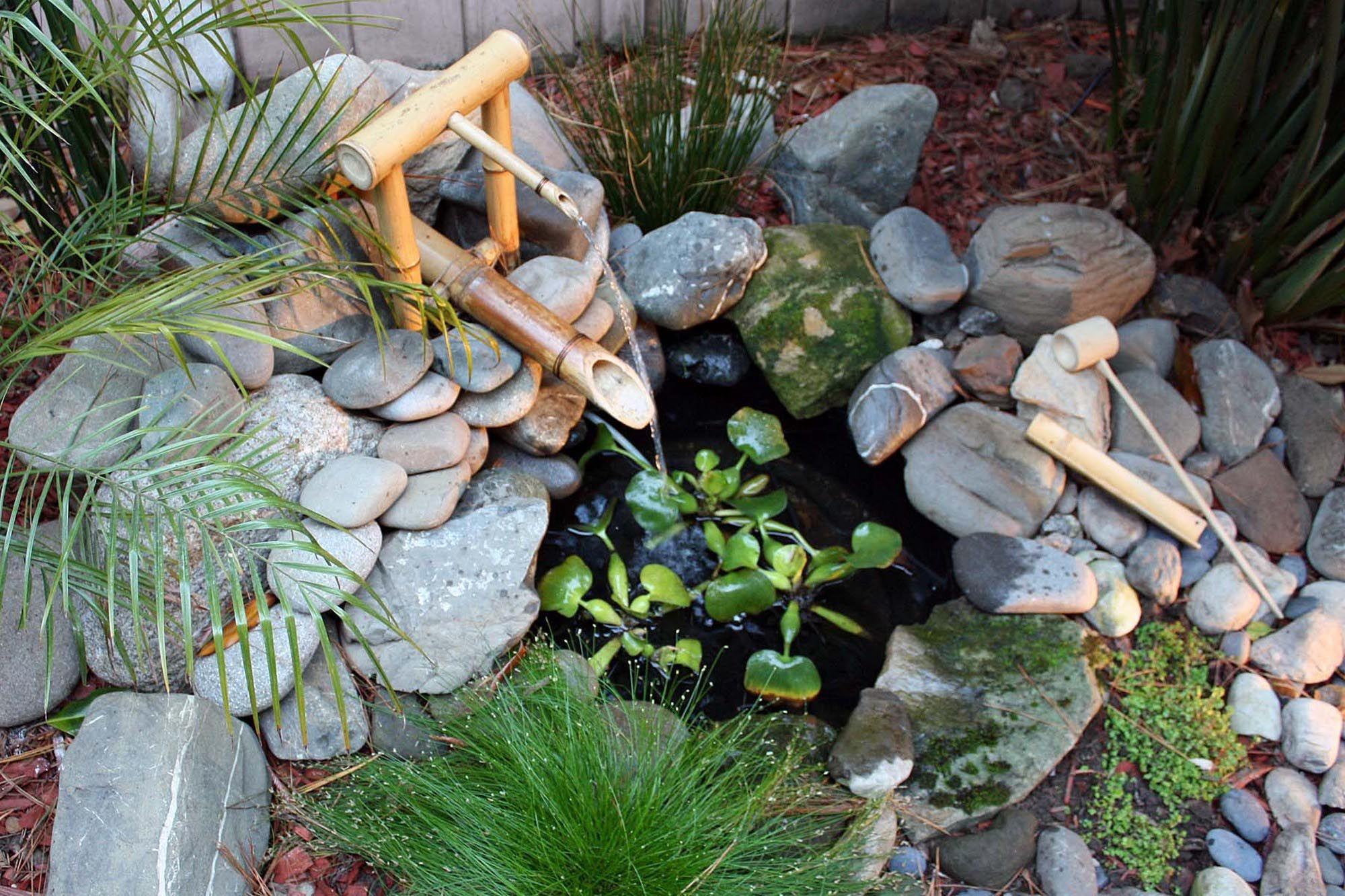 Petits Bassins D'arrière-Cour Et Fontaines | Fontaine Bambou ... à Faire Un Jardin Japonais Facile