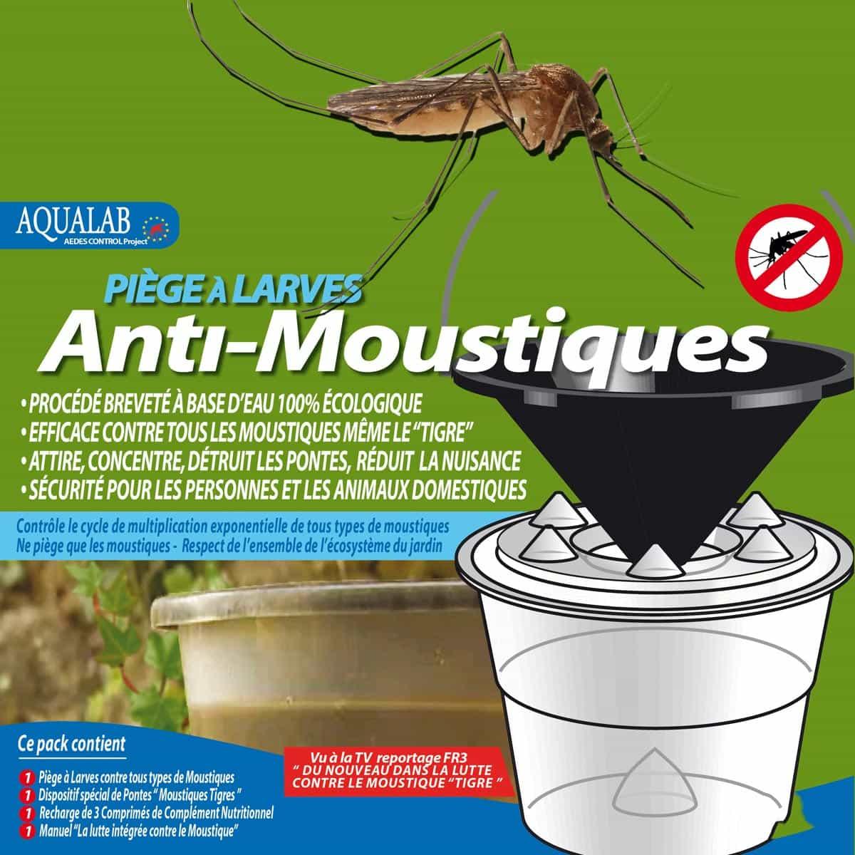 Piège Anti Larves De Moustiques Aqualab Bio intérieur Traitement Moustique Jardin