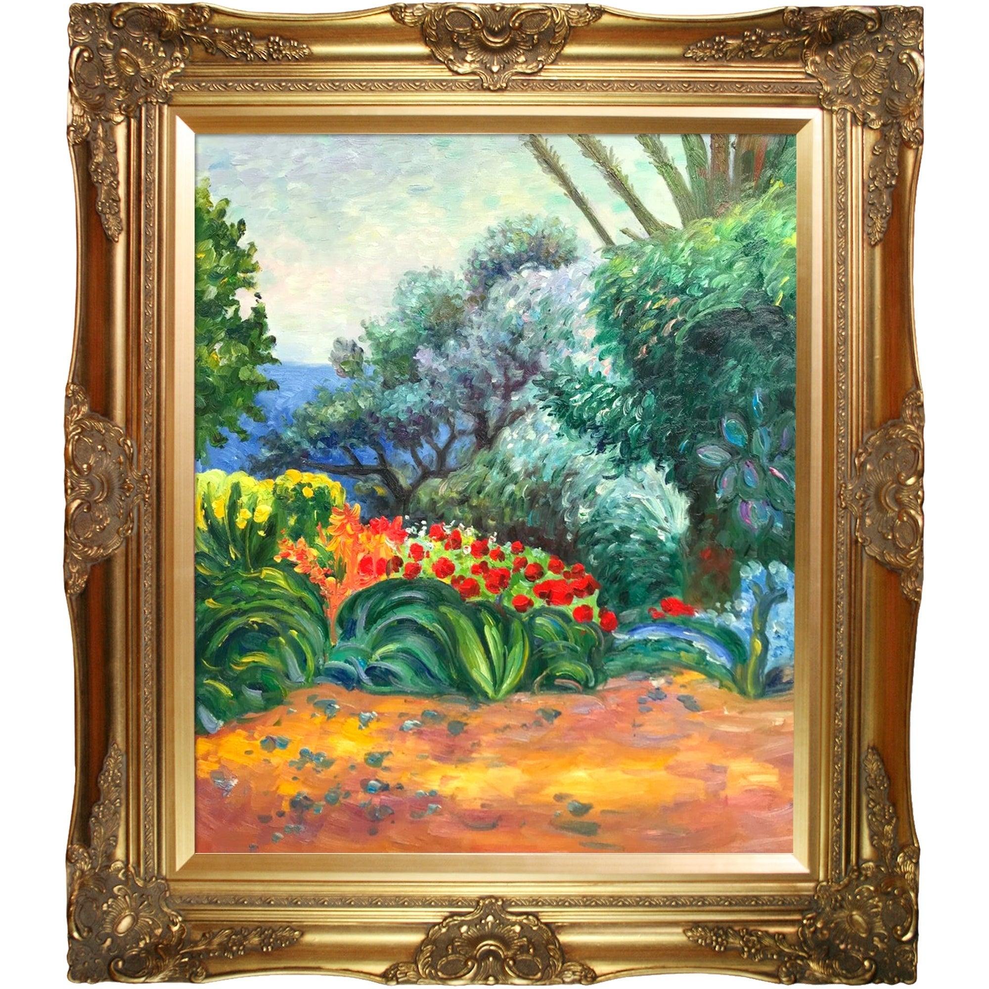 Pierre Bonnard 'coin De Jardin Fleuri' Hand Painted Oil Reproduction destiné Vase En Pierre Jardin