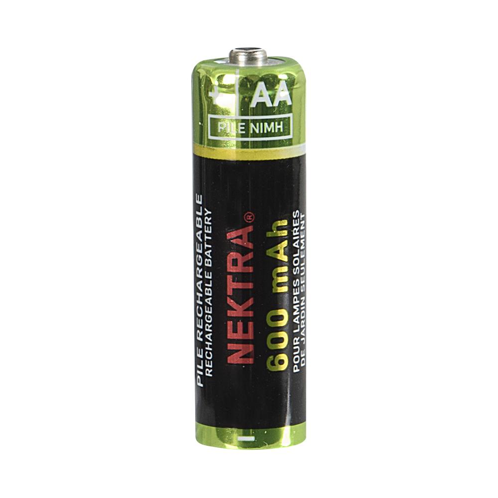 Piles Rechargeables Pour Lampes À Énergie Solaire Aa (Paquet De 4) pour Pile Pour Lampe Solaire De Jardin