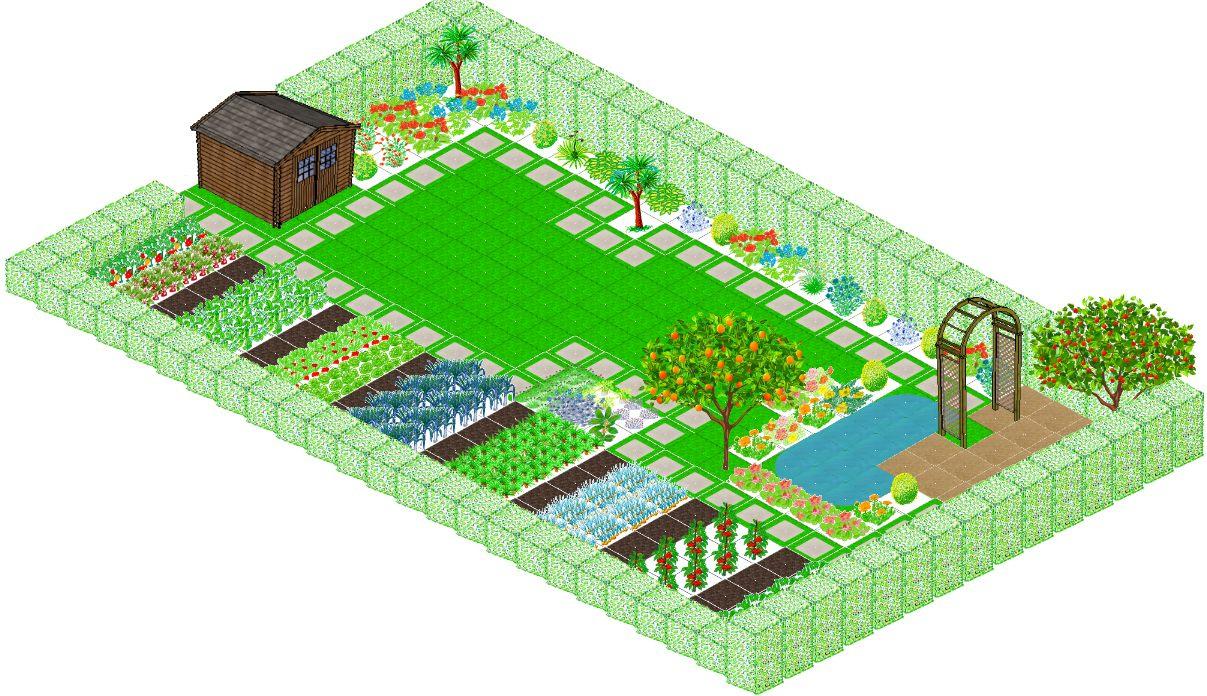 Plan Jardin Potager Plan Potager 3D 05 - Idees Conception Jardin avec Plan Jardin Potager Bio