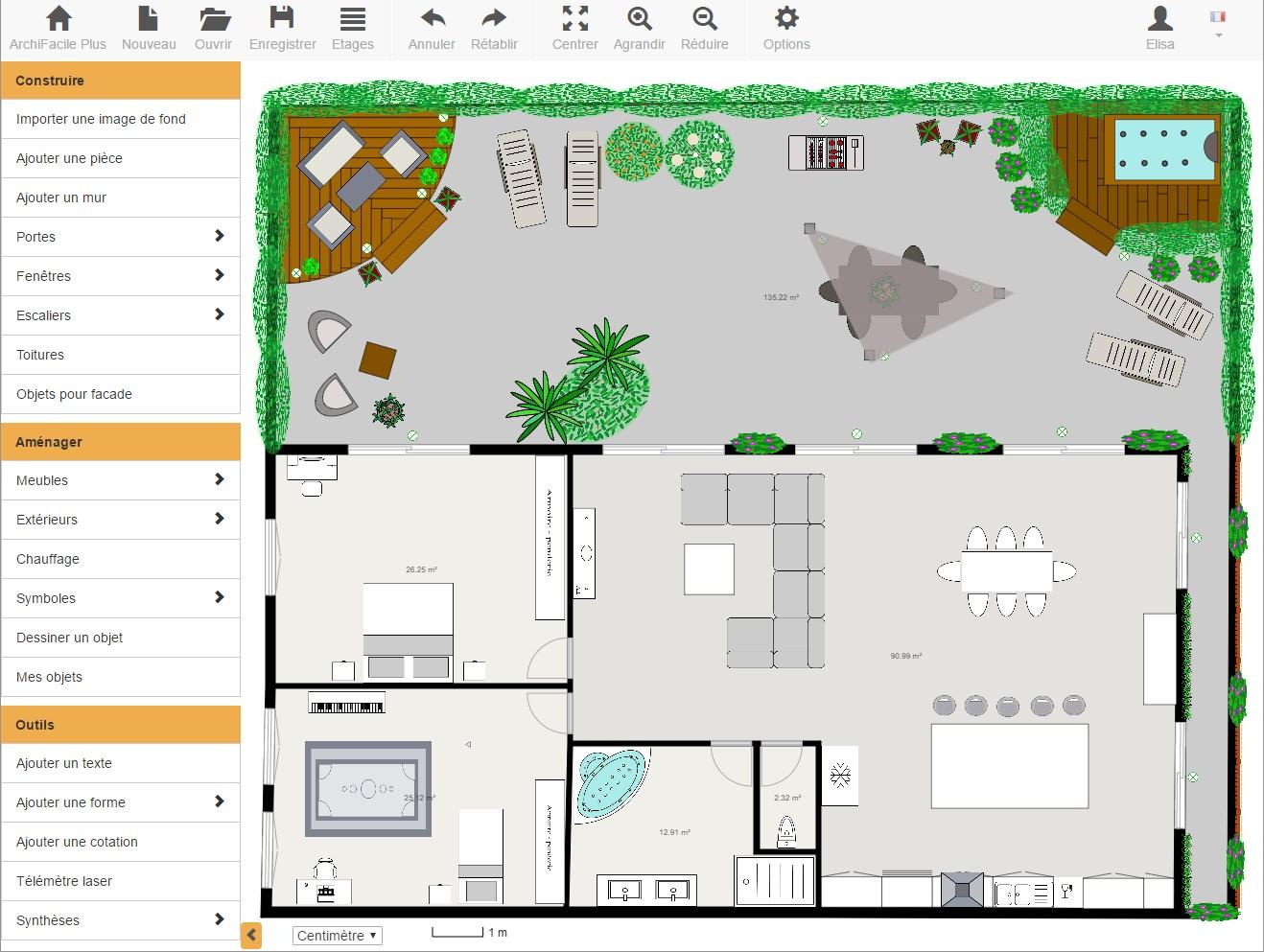 Plan Maison Gratuit - Avec Archifacile Dessinez Vos Plans De ... avec Créer Un Plan De Jardin Gratuit