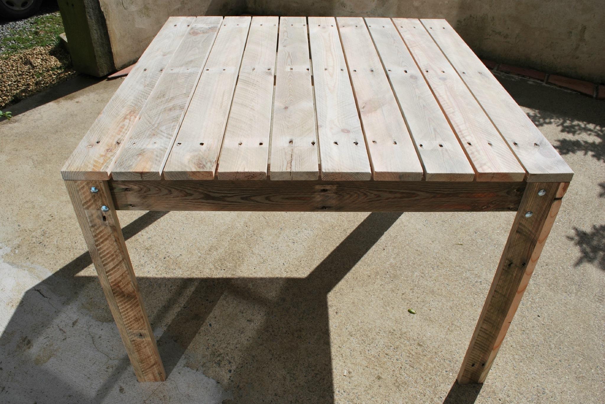 Plan Pour Fabriquer Une Table De Jardin En Bois À Exterieur ... dedans Plan Pour Fabriquer Une Table De Jardin En Bois