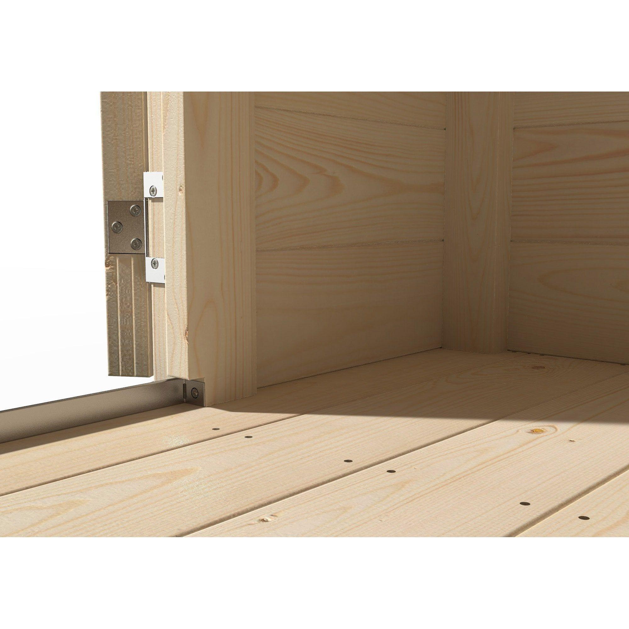 Plancher En Bois Naterial Pour Abri 6M² Contemp, L.247 X H ... à Plancher Pour Abri De Jardin