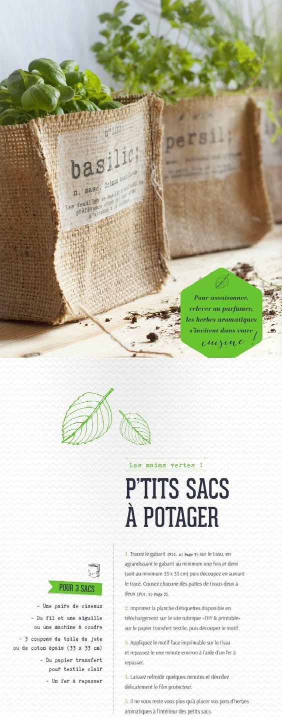 Plantes Aromatiques - Le Blog De Bricolesetutos | Toile De ... destiné Toile De Jute Jardin