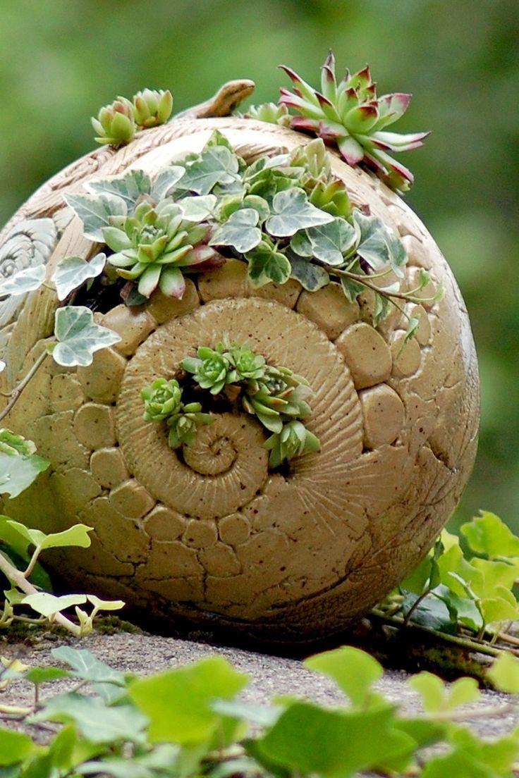 Planting Ball Made Of Ceramic | Pots De Fleurs Peints ... concernant Boule Céramique Jardin