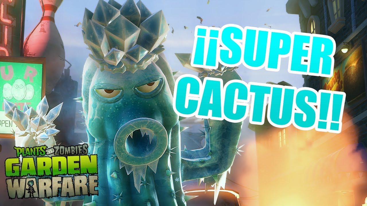 Plants Vs Zombies Garden Warfare | El Super Cactus | Gameplay Xbox 360 pour Zombie De Jardin