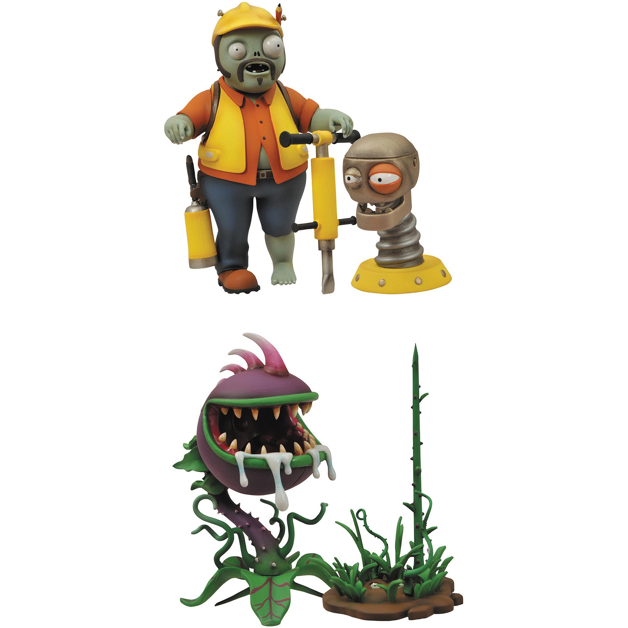 Plants Vs Zombies: Zombie De Jardín Guerra Ingeniero Y Figuras De Acción De  Chomper, 2-Pack - Simaro.co encequiconcerne Zombie De Jardin