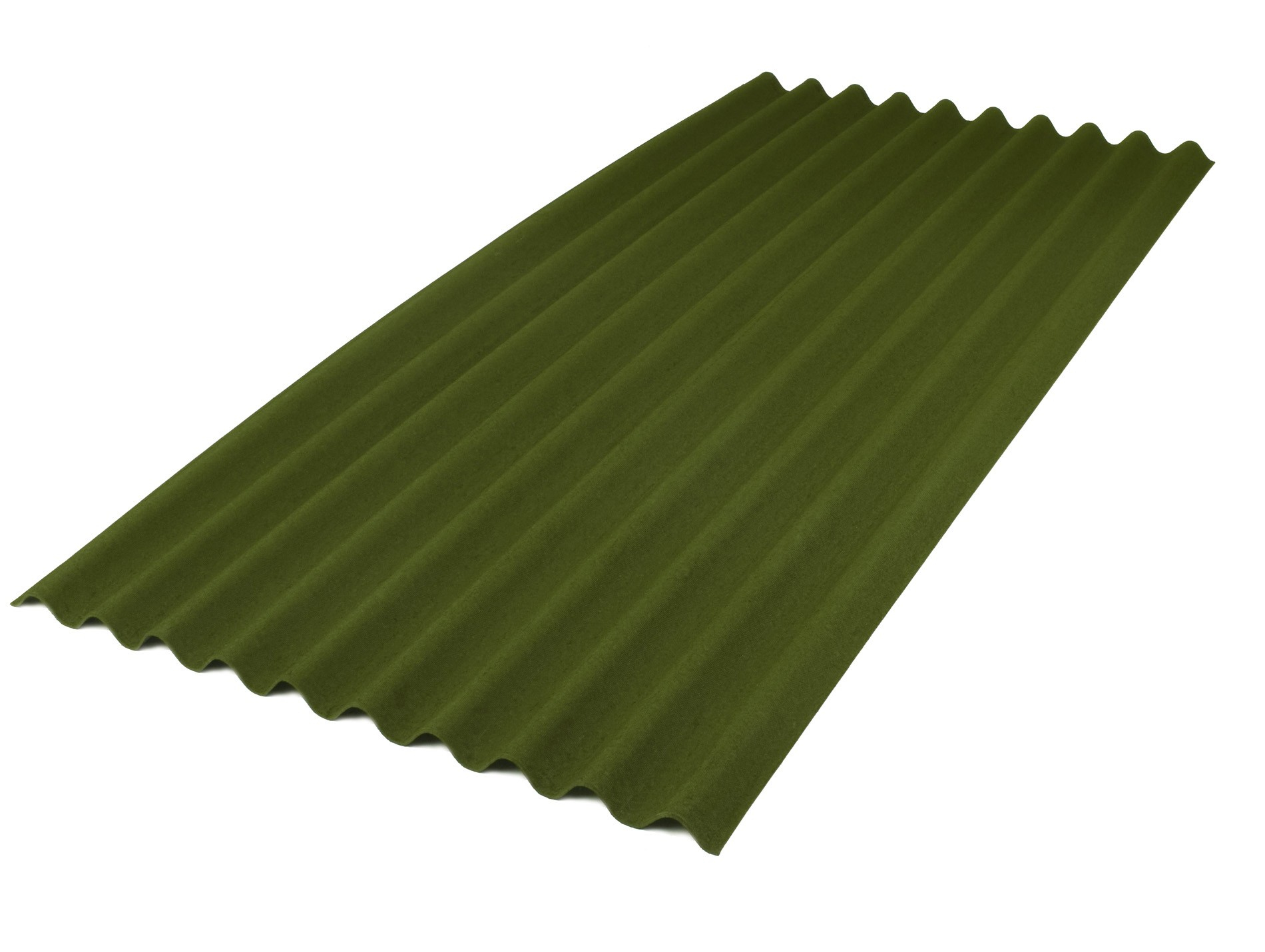 Plaque Ondulée Onduline® 9S Vert 200X86Cm concernant Tole Ondulée Pour Abri De Jardin
