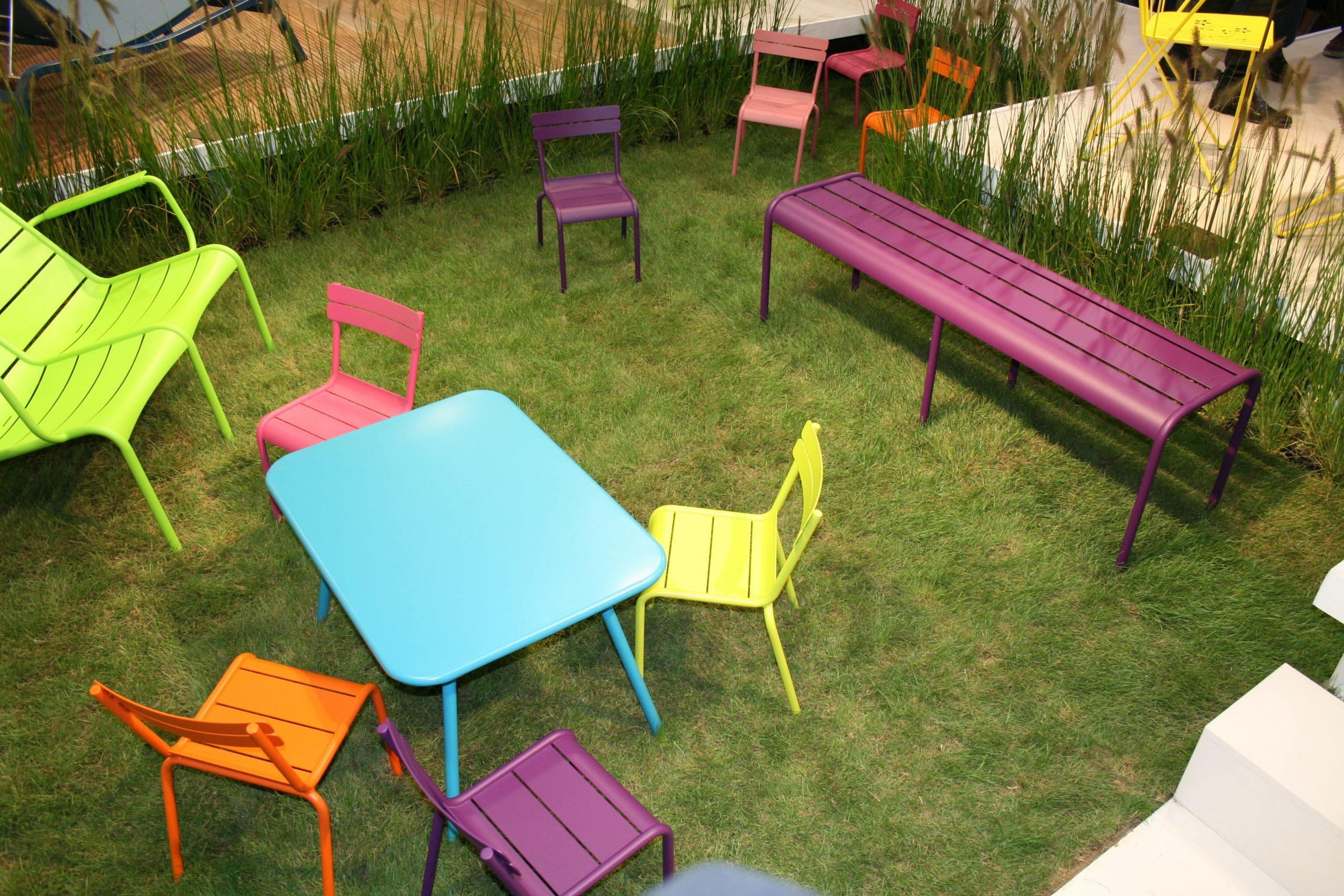 Plateau Table Exterieur tout Salon De Jardin En Soldes