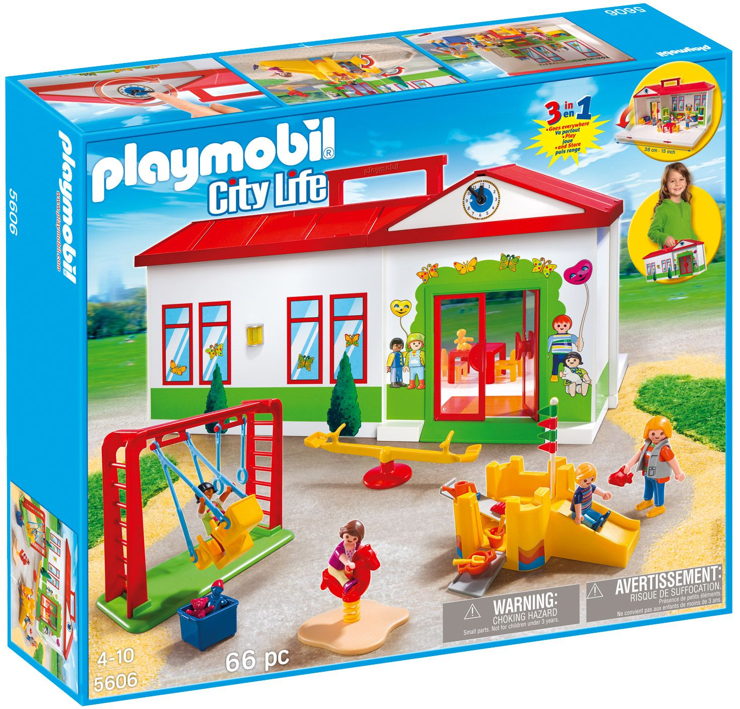 Playmobil City Life 5606 : La Garderie   Playmobil ... avec Grand Jardin D Enfant Playmobil