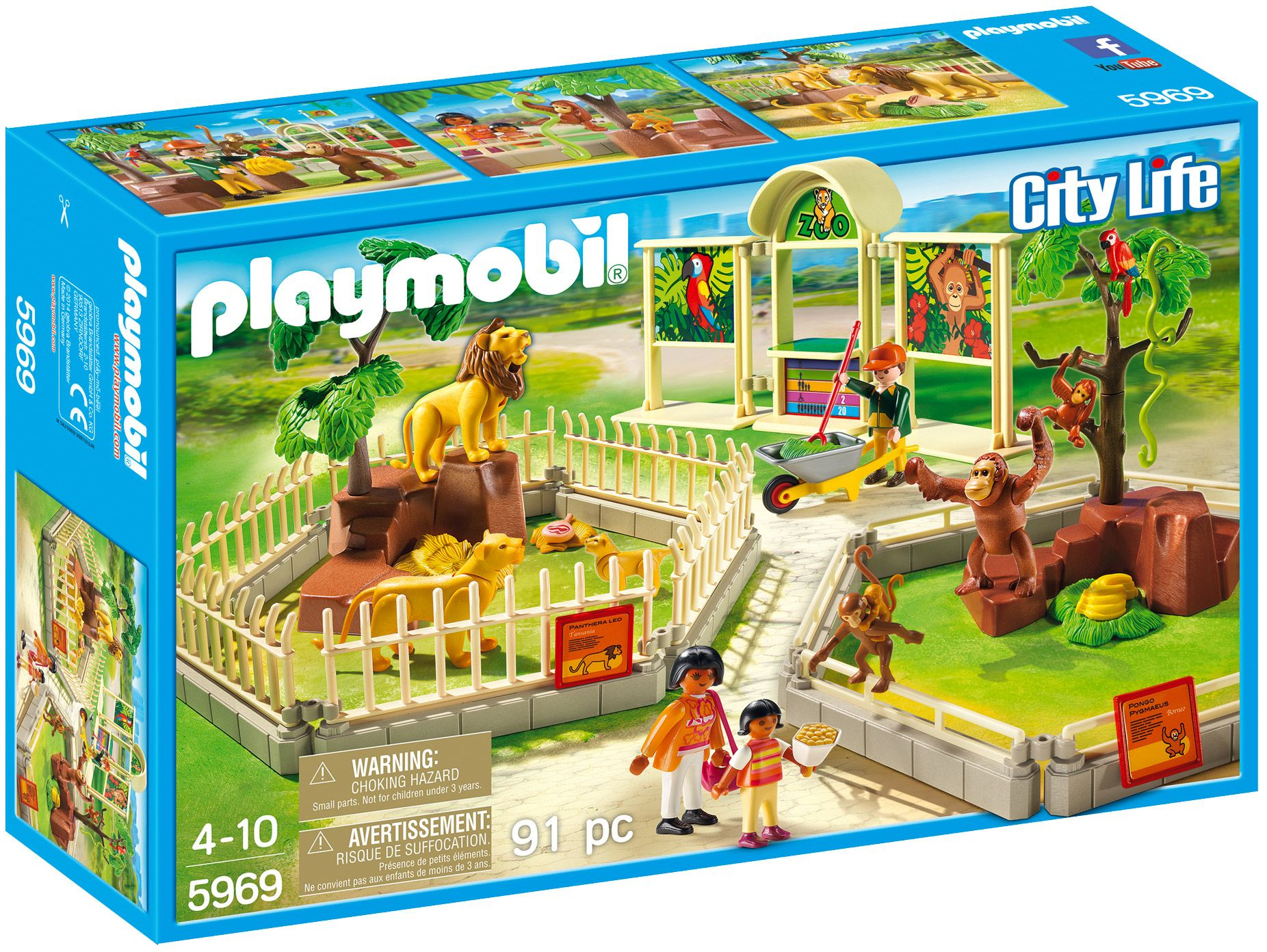 Playmobil City Life 5969 : Le Grand Zoo | Le Zoo, Amazone ... concernant Playmobil Jardin D Enfant