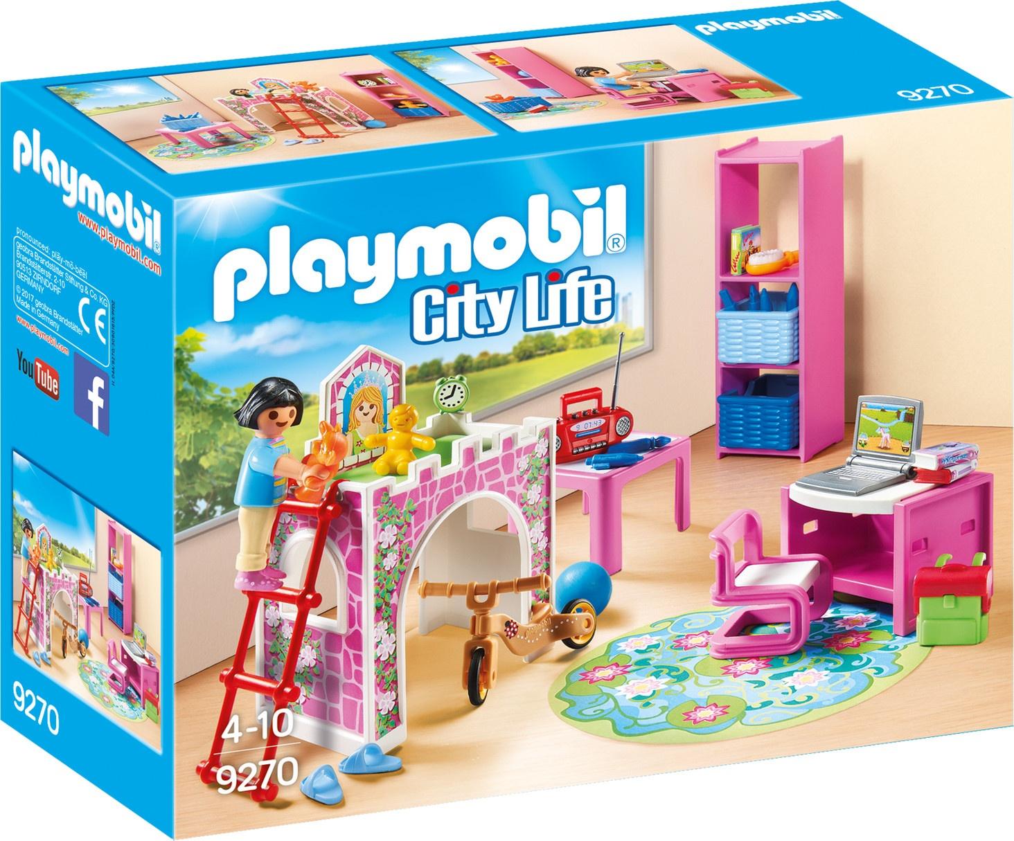 Playmobil City Life : Les Enfants Avec Lit En Hauteur (9270 ... destiné Jardin D Enfant Playmobil