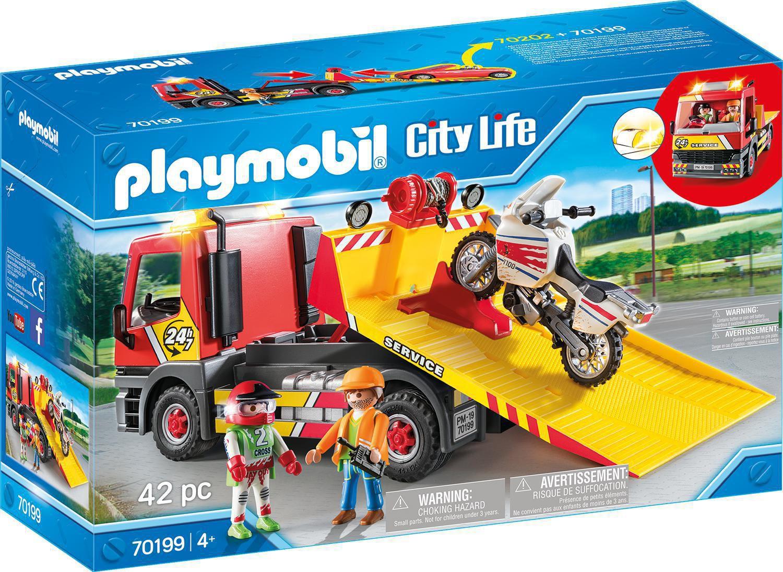 Playmobil City Life Service De Remorquage 70199 à Grand Jardin D Enfant Playmobil