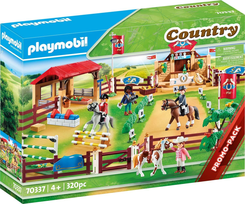 Playmobil Country L'équitation D'hippodrome (70337 ... avec Grand Jardin D Enfant Playmobil