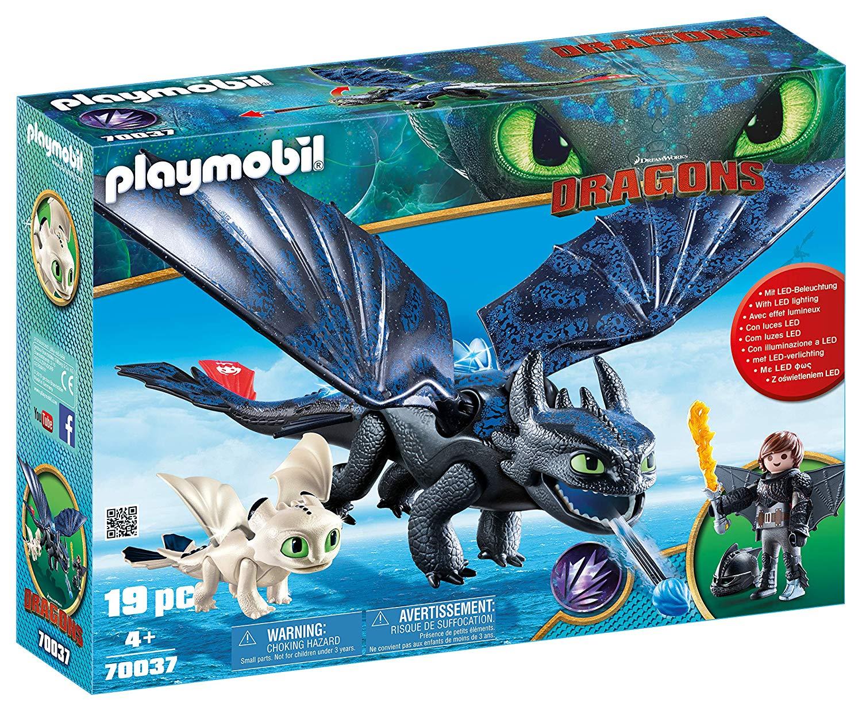 Playmobil - Krokmou Et Harold Avec Bébé Dragon - 70037 ... concernant Jardin D Enfant Playmobil