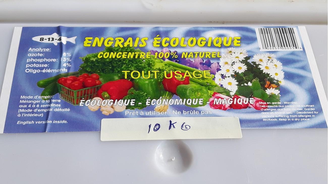 Poissonnerie 2000/engrais Écologique Chedière   Poisson Center à La Potasse Au Jardin