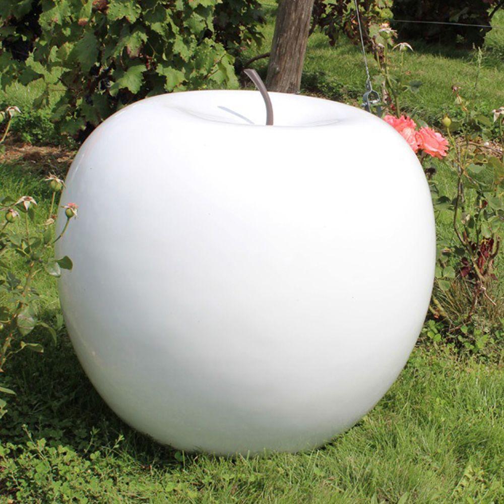 Pomme Décorative Xxl Ø77 Cm Résine Blanc encequiconcerne Grosse Pierre Decoration Jardin