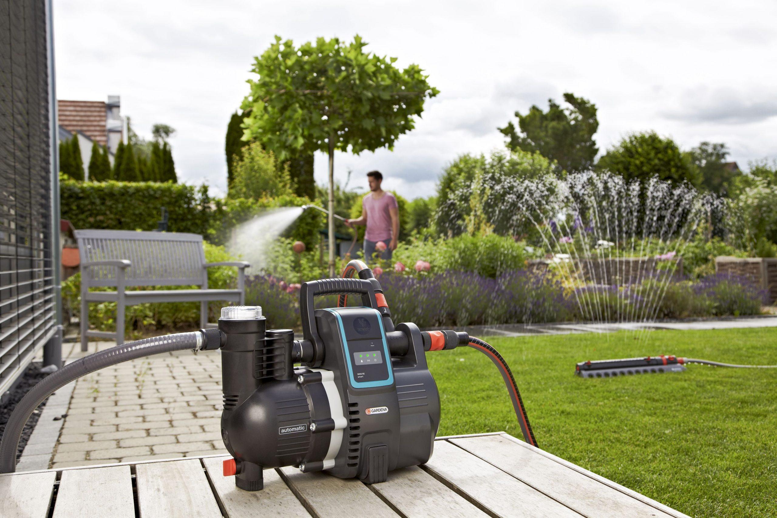 Pompe Arrosage Automatique Automatique Gardena, Smart Pressure 5000 L/h dedans Pompe Pour Arroser Le Jardin