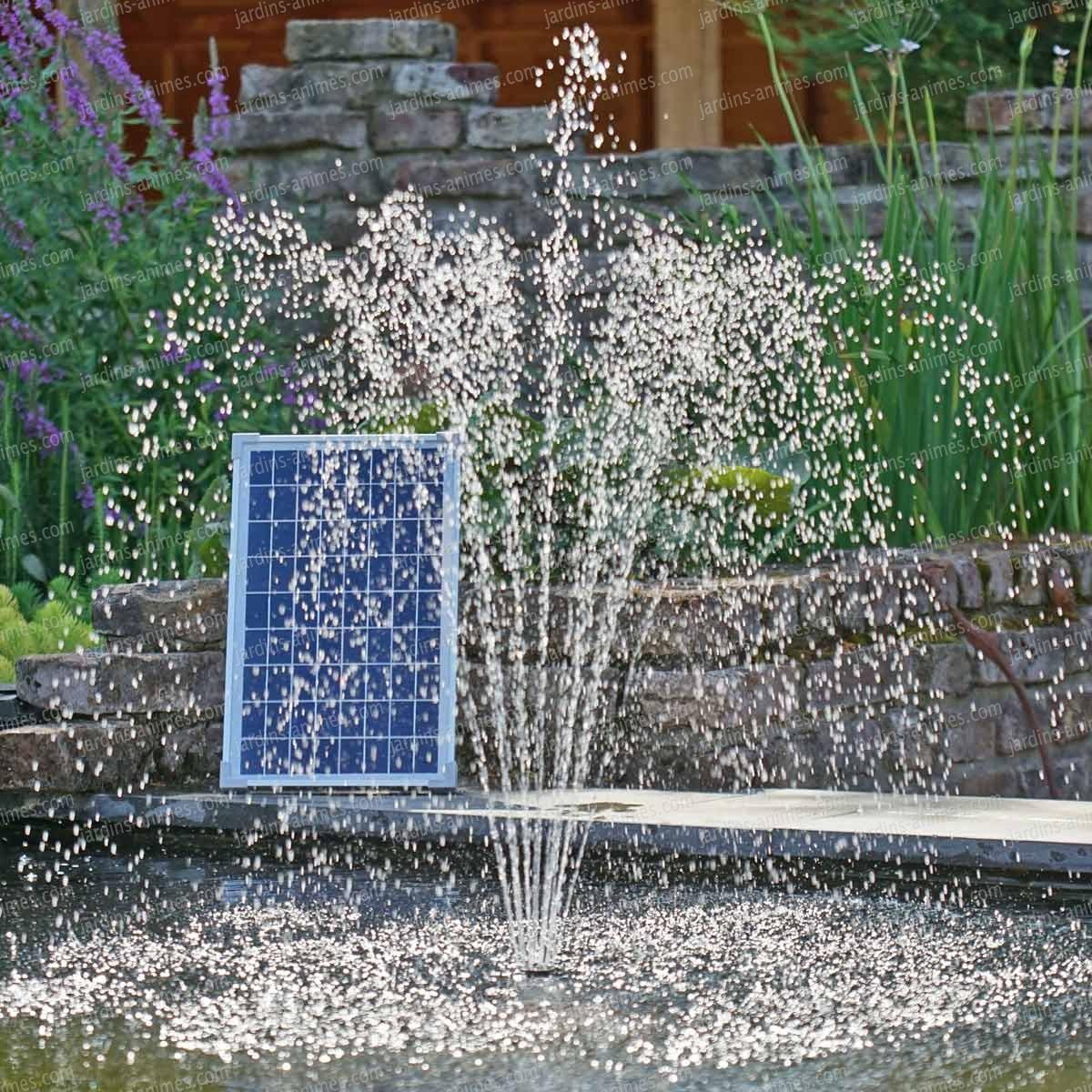Pompe Fontaine Jets D'eau Solaire Pour Bassin encequiconcerne Jet D Eau Pour Fontaine De Jardin