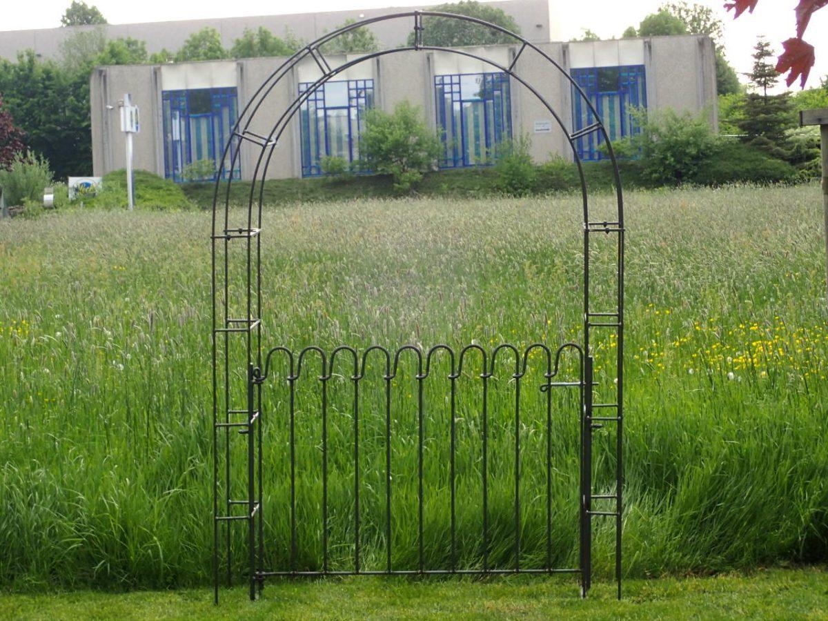 Porte Avec Arche De Jardin - Melabel® Clôtures intérieur Arche De Jardin En Fer