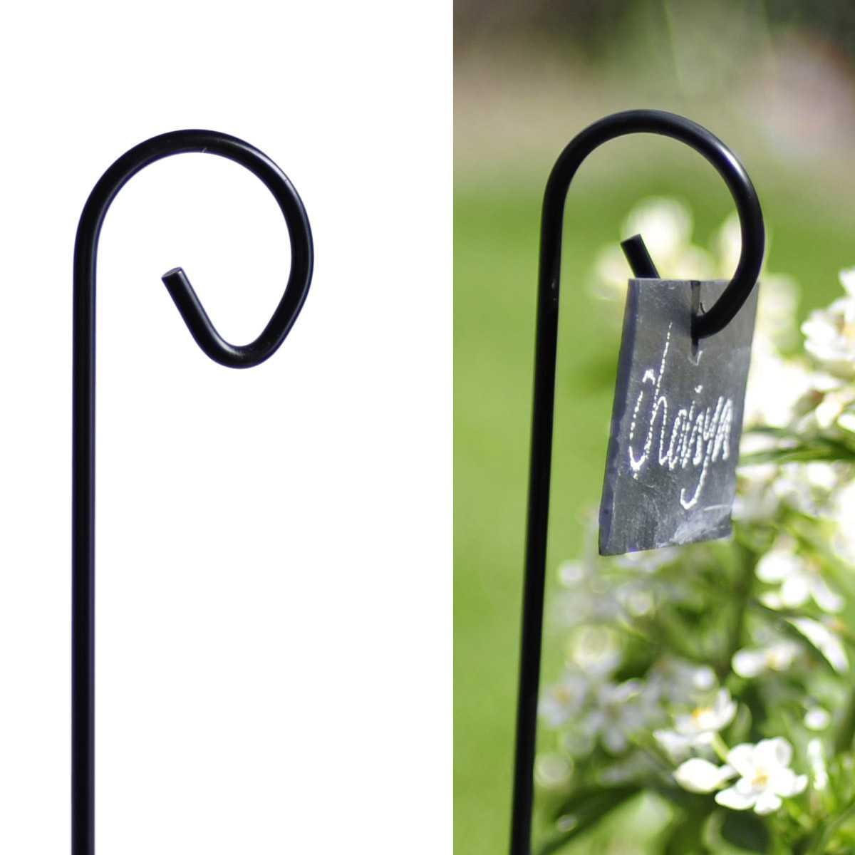 Porte Étiquette Ardoise avec Etiquette Jardin
