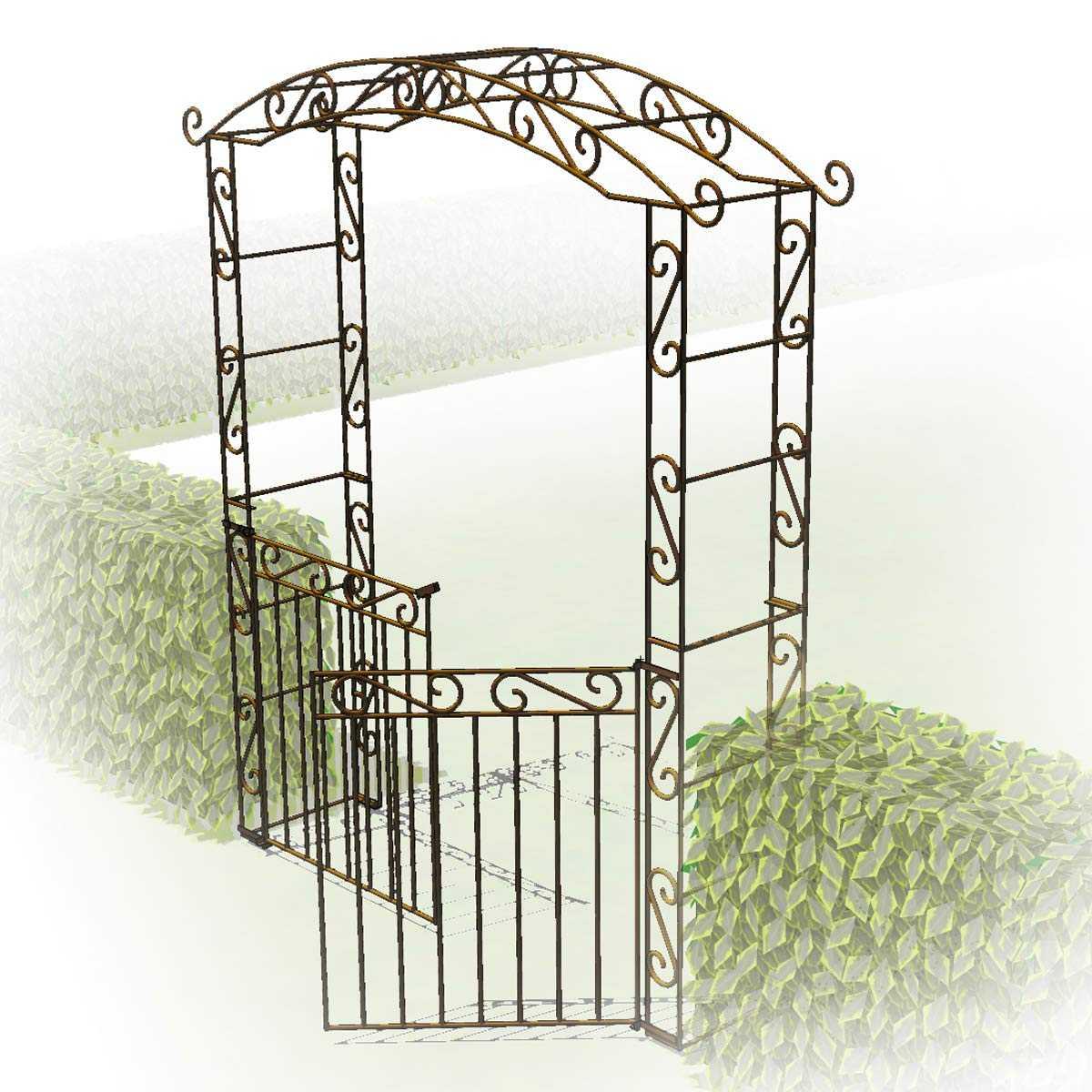 Portillon 2 Battants Pour Arche Pagode dedans Arche De Jardin Avec Portillon