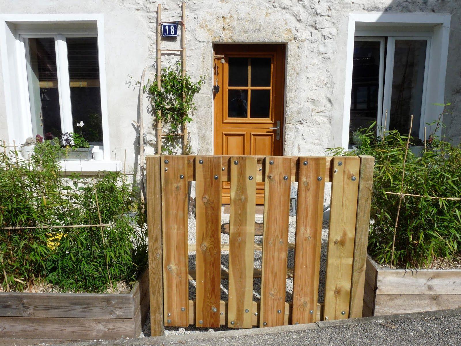 Portillon En Bois | Portillon Jardin, Portillon Bois Et ... tout Portillon De Jardin En Bois