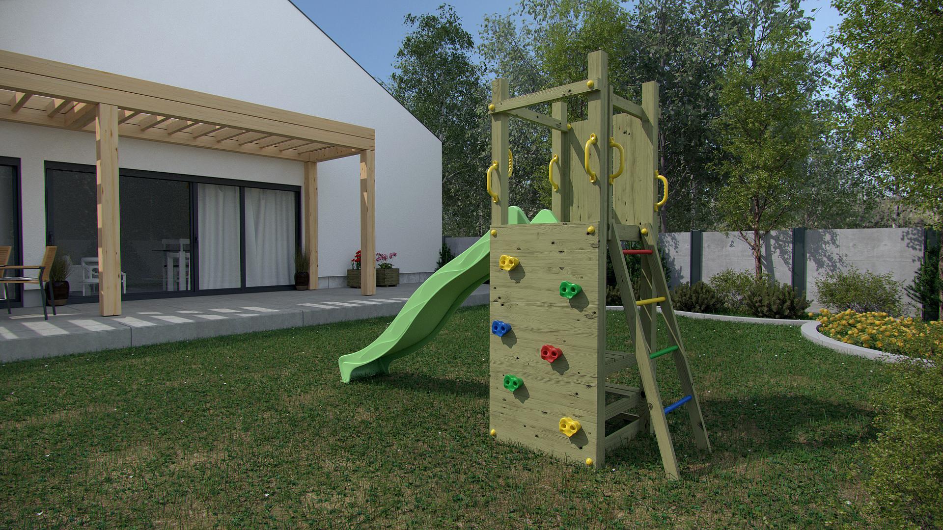 Portique En Bois Flappy Portique En Bois destiné Jeux De Jardin En Bois