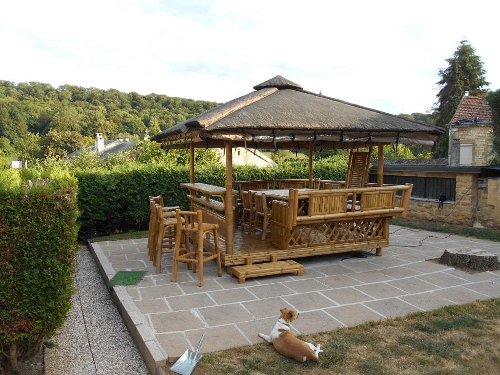 Pose De Paillote Bambou Dans Toute La France pour Paillote Jardin