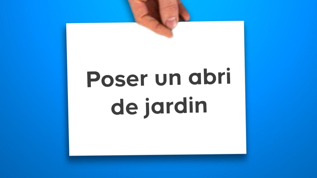 Poser Un Abri De Jardin (Castorama) dedans Pose Abri De Jardin Sur Dalle