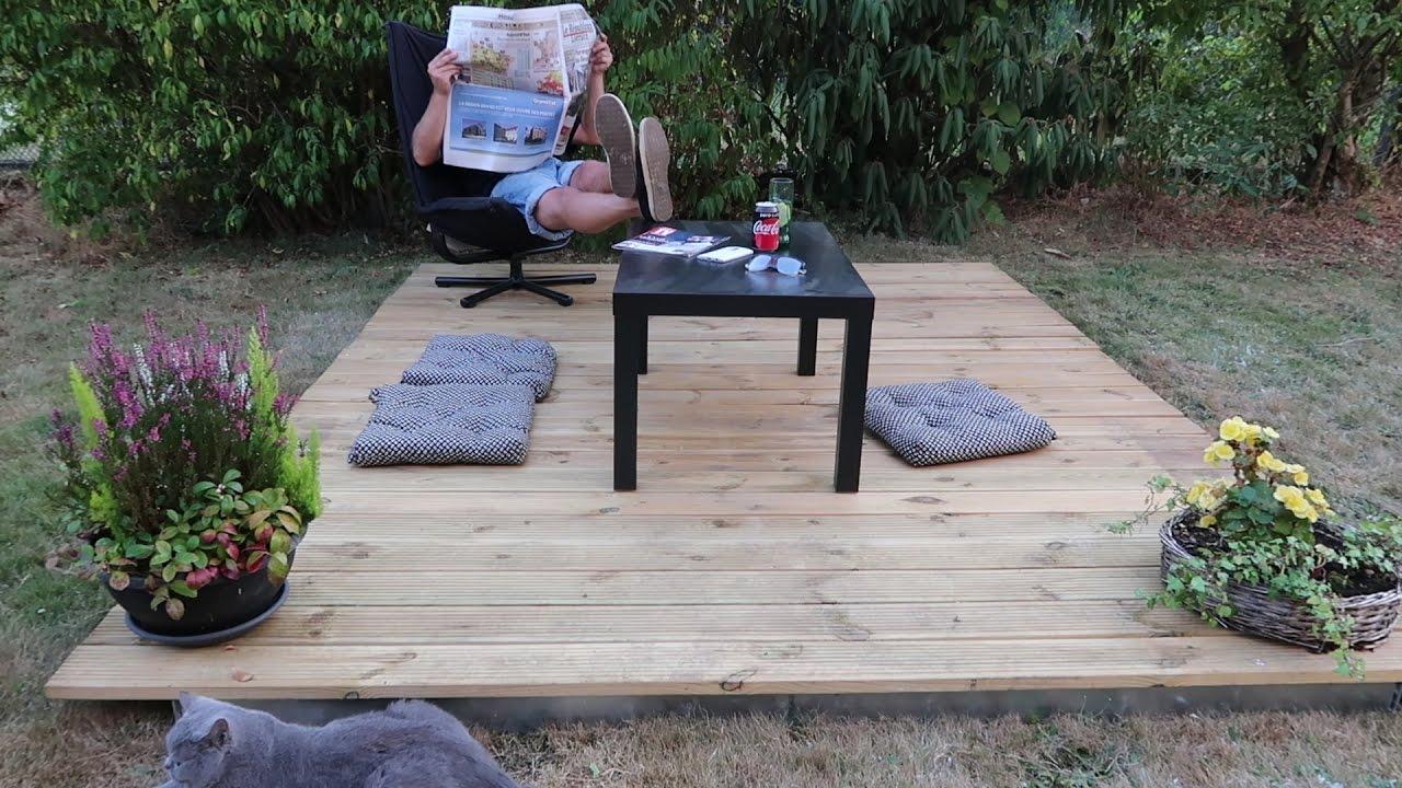 Poser Une Terrasse Bois En 2 Minutes / Idéal Jardin Privatif, Camping,  Mobil Home, Camping Car... pour Caillebotis De Jardin