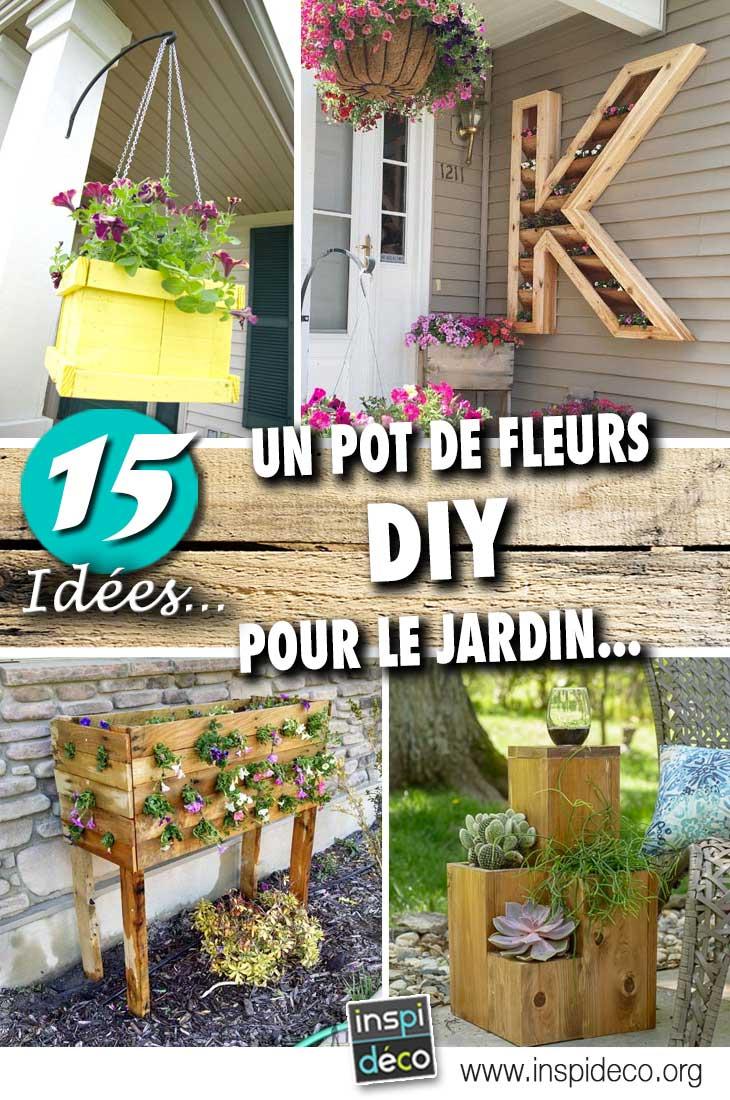 Pot De Fleurs Extérieur Diy Pour Une Déco Unique Et ... à Pot Deco Jardin Exterieur