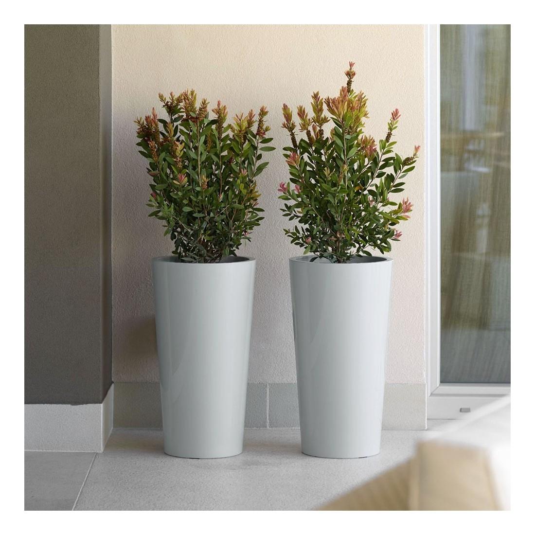 Pot Deco Exterieur Pastel Gris tout Pot Deco Jardin Exterieur