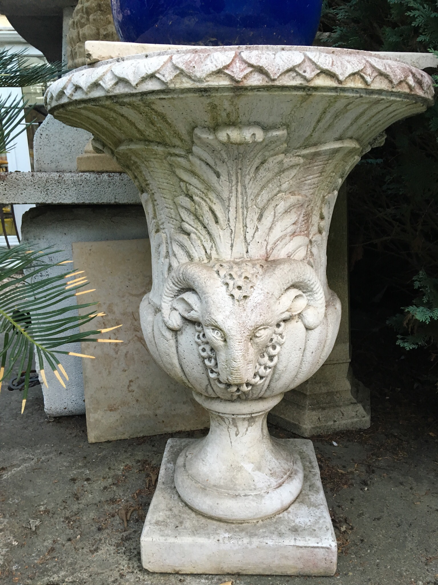 Pot En Pierre intérieur Statues De Jardin Occasion