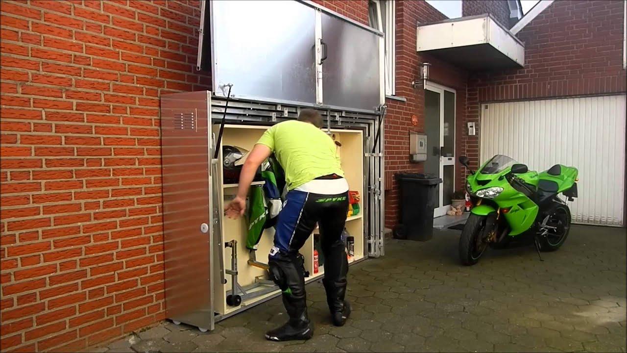 Pratique : Un Garage Moto Télescopique En Métal intérieur Abri Moto Jardin
