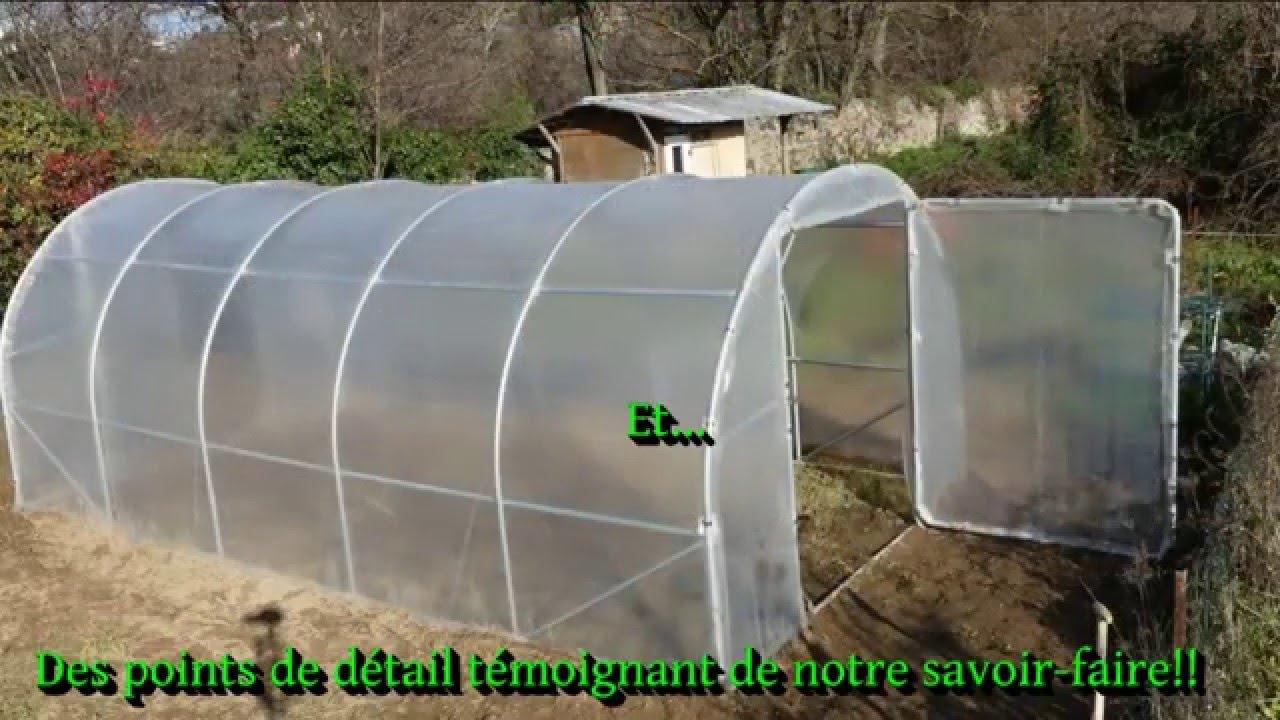 Présentation Serre De Jardin Fabrication Française Ø 32Mm serapportantà Comment Faire Un Tunnel De Jardin