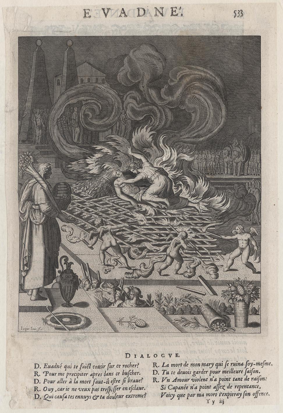 """Prints And Principles: Jaspar Isaac's Engraving, """"Evadne"""", C1609 serapportantà Siege Pour Jardiner"""