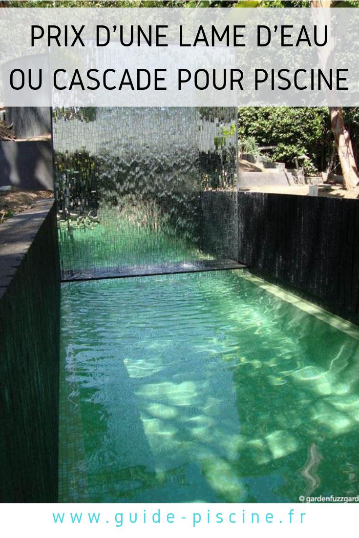 Prix D'une Cascade Ou Lame D'eau Pour Piscine   Cascade ... à Prix D Un Bassin De Jardin
