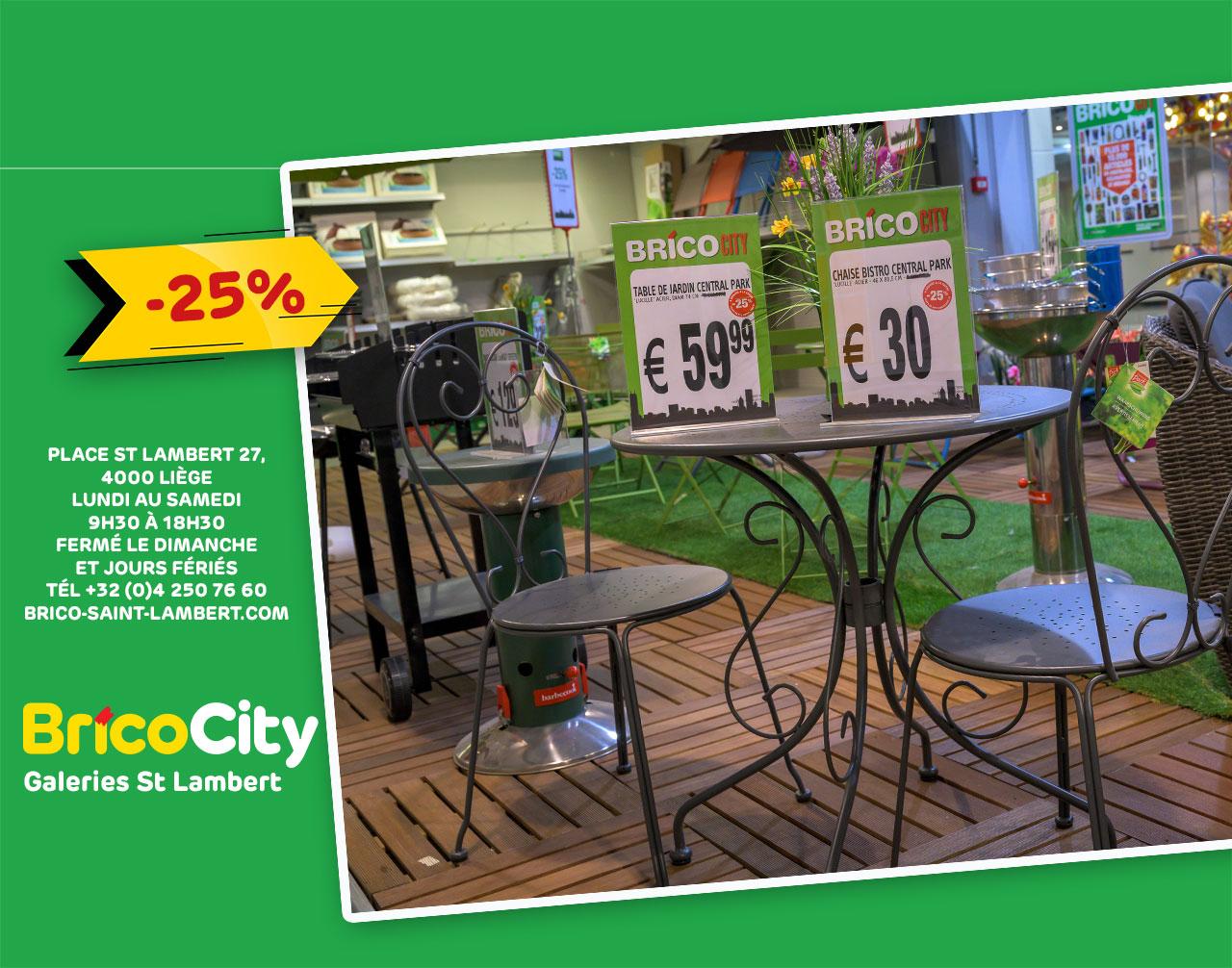 Promo -25% Sur La Table Et Chaise De Jardin* concernant Table De Jardin Brico