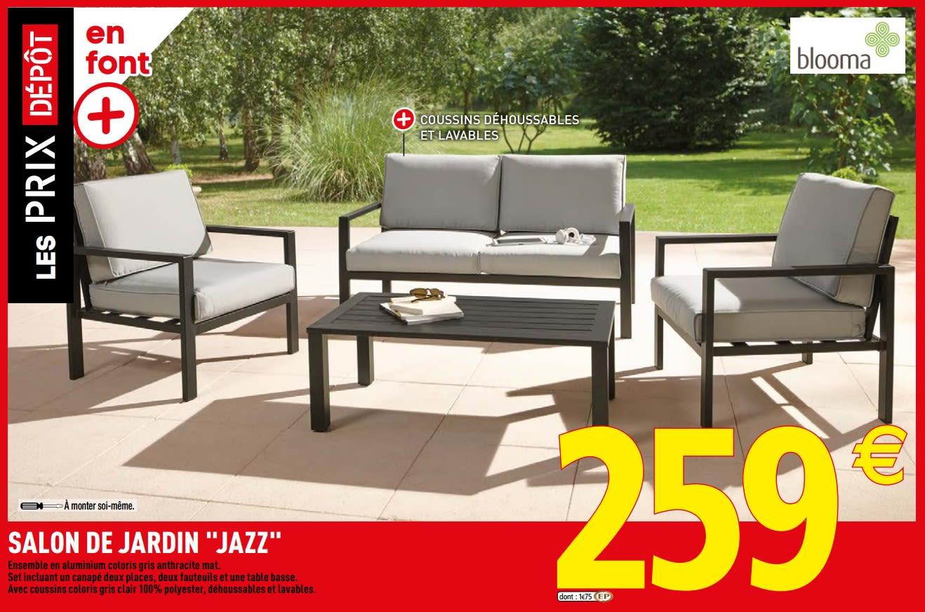 Promotion Brico Depot: Salon De Jardin Jazz - Blooma (Jardin ... pour Mobilier Jardin Brico Depot