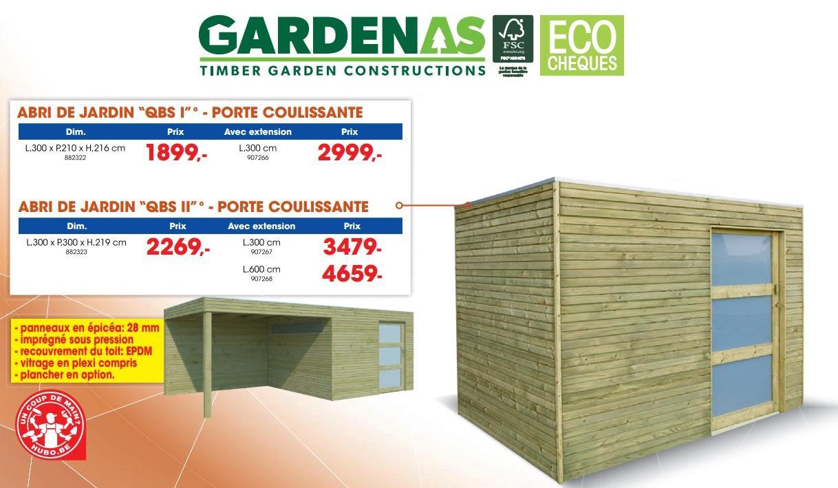 Promotion Hubo: Abri De Jardin Qb Ii - Gardenas (Jardin Et ... pour Abris Jardin Hubo